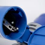 Soolutions CEE blauw 16A (mannelijk) naar Schuko (vrouwelijk)