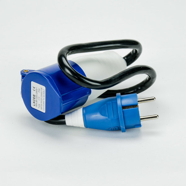 Soolutions Normalstecker (Schuko) an Blue CEE 1 Phase 16A - Kabeladapter