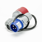 Soolutions CEE blue 16A (male) to CEE red 16A (female)
