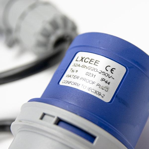 Soolutions CEE blauw 32A (mannelijk) naar CEE blauw 16A (vrouwelijk)