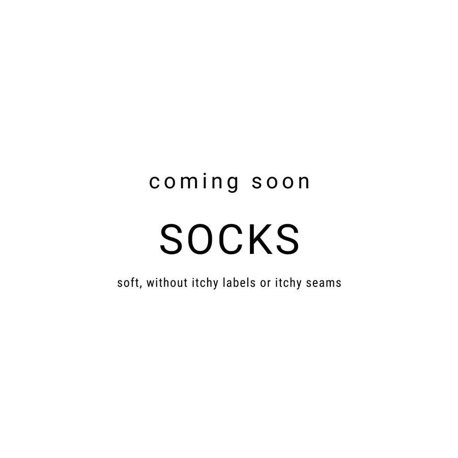 Chaussettes unisexes, super doux, en coton biologique, sans coutures tangibles, sans côtes en haut, faciles à enfiler