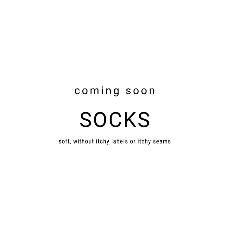 Sensitivity socks, super soft, seamless feeling, non-binding top, easy to put on, organic cotton