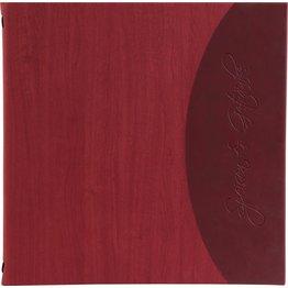 "Speisenkarte ""Felia"" quadratisch rot + bordeaux"