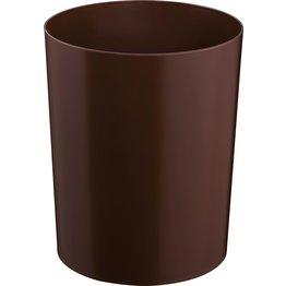 Papierkorb ohne Metallboden braun