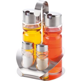 Menagen-Set Salz/Pfeffer/Essig/Öl