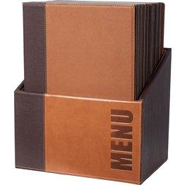 "Speisenkarten-Box ""Elite"" | Set braun"