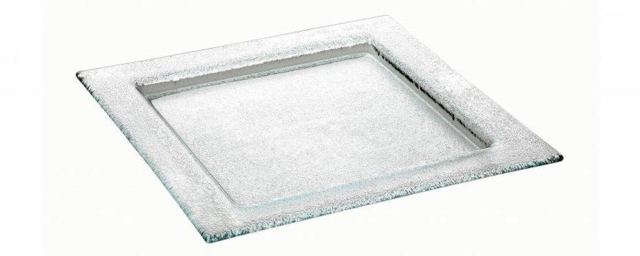 """Glasteller """"Namib"""" - quadratischer Glasteller mit  Fahne"""