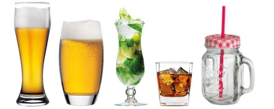 diverse Gläser zu verschiedenen Anlässen