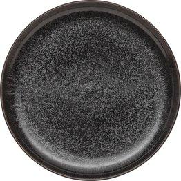 "Porzellanserie ""Ebony"" Teller flach rund Ø26,5cm - NEU"
