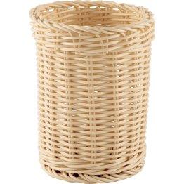 Korb Besteck rund 11,5x15cm beige - NEU