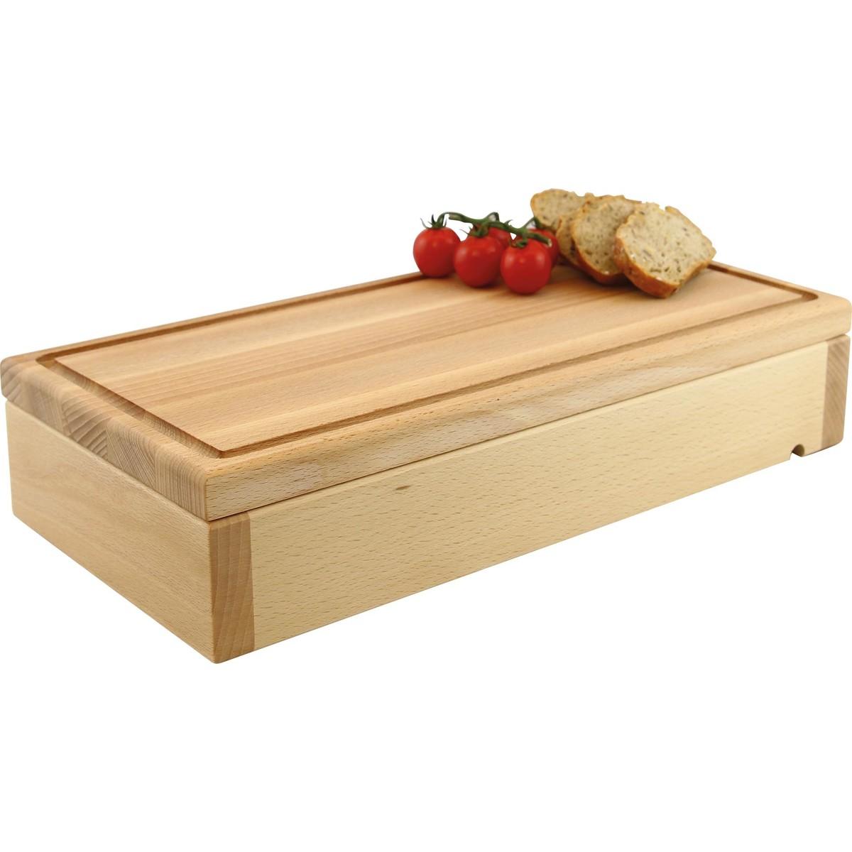 """Modul """"Wood"""" Buche natur lackiert """"Holzbrett mit Saftrille"""""""