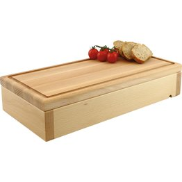 """Modul """"Wood"""" Buche natur lackiert """"Holzbrett mit Saftrille"""" - NEU"""
