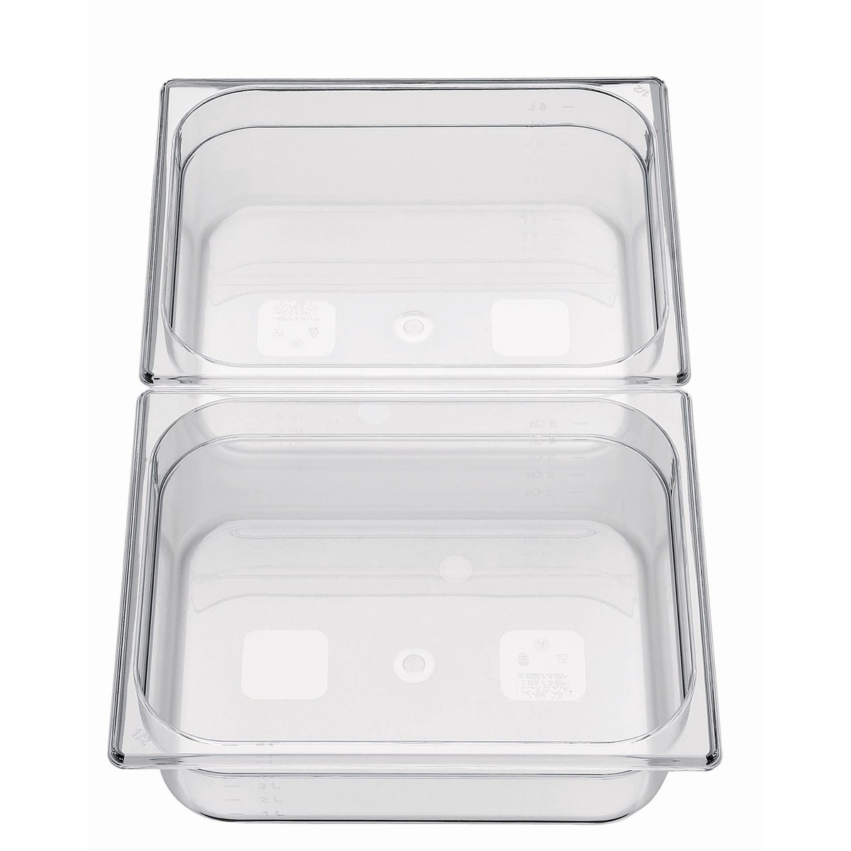 GN-Behälter 1/2 Polycarbonat 65mm