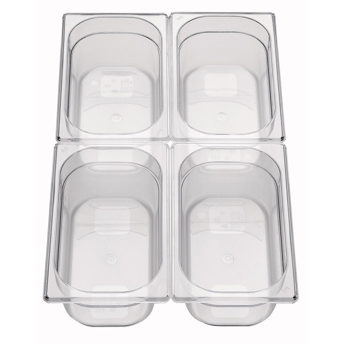GN-Behälter 1/4 Polycarbonat 150mm