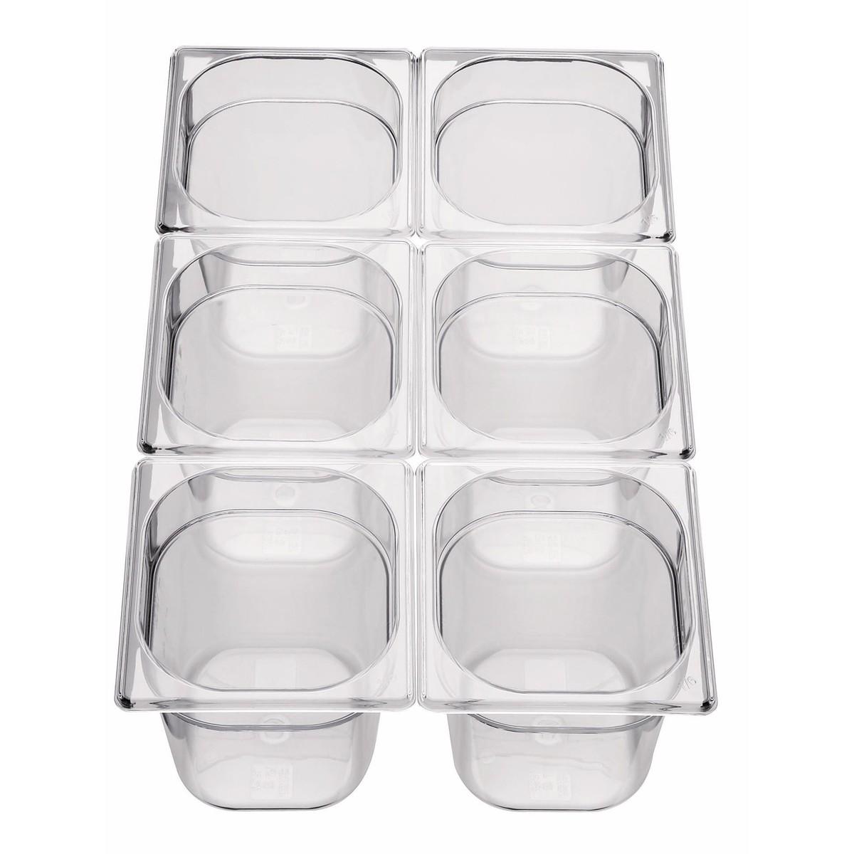GN-Behälter 1/6 Polycarbonat 150mm