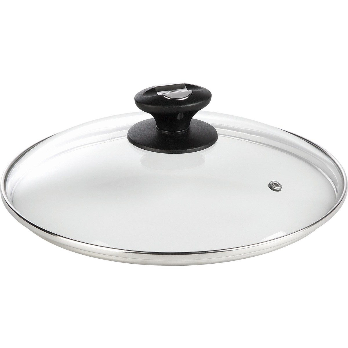 Glas-Deckel mit Dampfloch 24cm