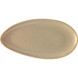 "Porzellanserie ""Vida"" Platte flach oval 32cm"