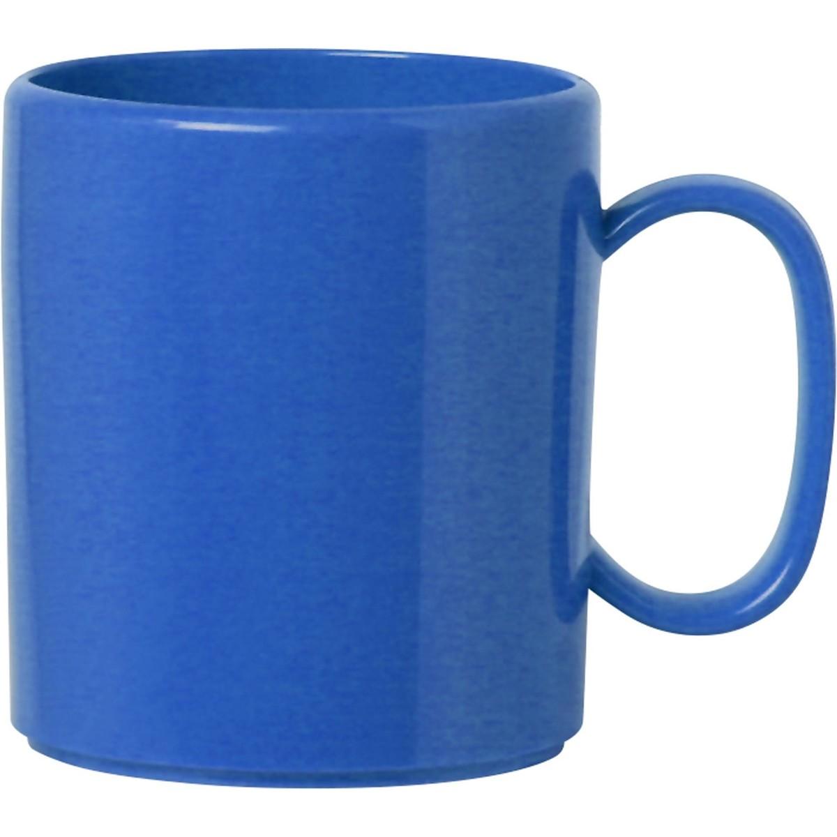 """Becher """"Colour"""" mit Henkel blau"""