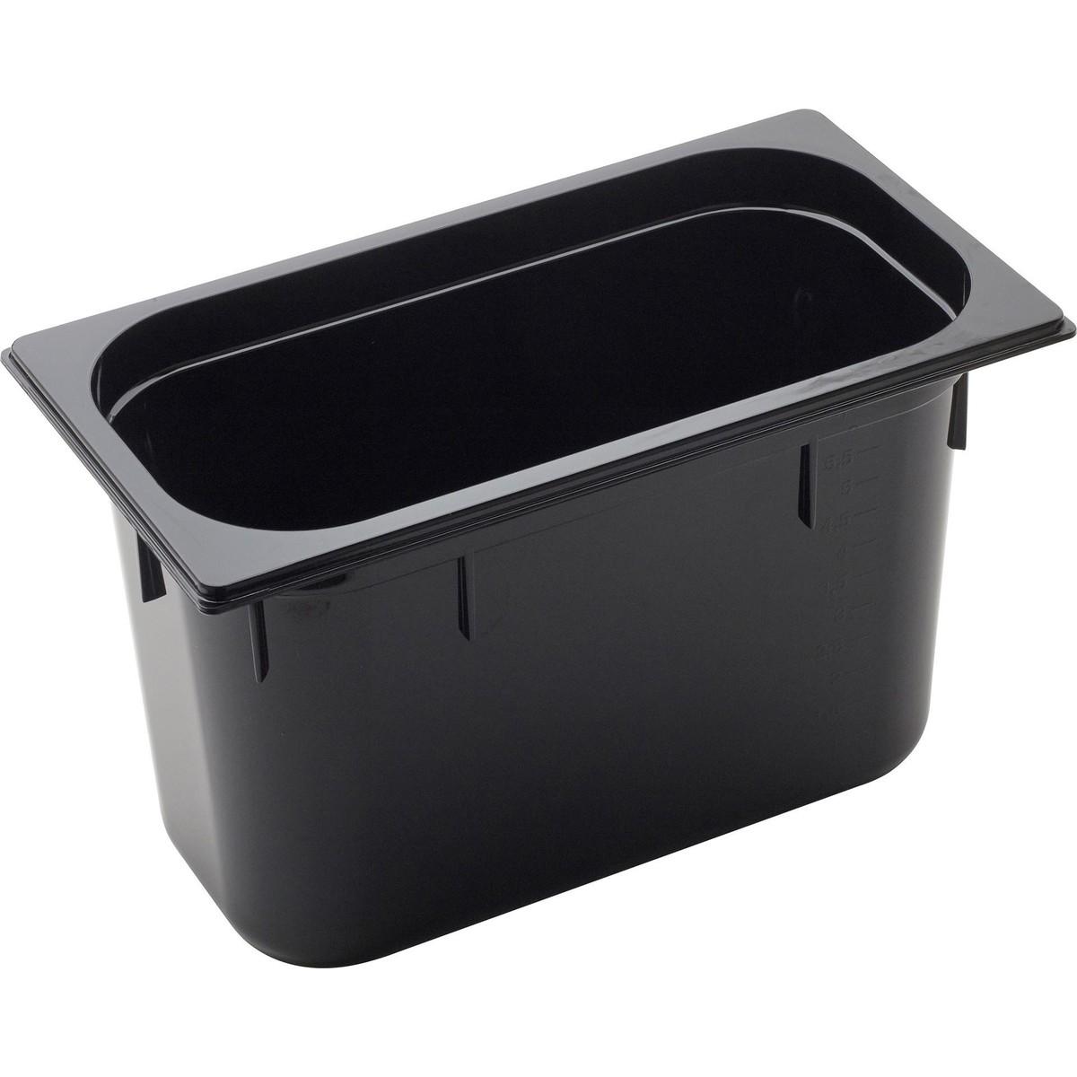 GN Behälter 1/3 Polycarbonat schwarz T: 200mm, 9L