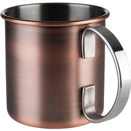 """Becher """"Moscow Mule"""" Antik-Kupferlook, glatt, matt, Ø 9,0 cm, H: 9,0 cm, 0,45 L - NEU"""