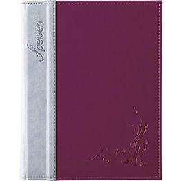 "Speisenkarte ""Flora"" A4 aubergine"