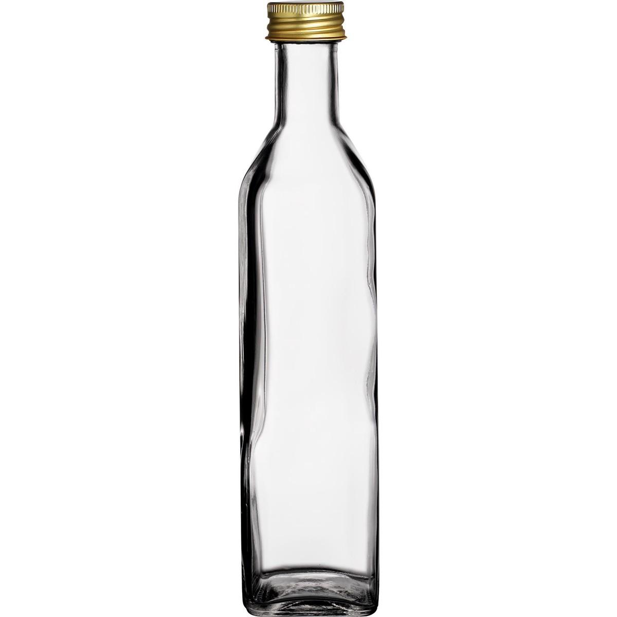 Glasflasche eckig 125ml
