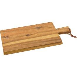 Holzbrett mit Griff und Lederband