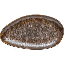 "Porzellanserie ""Rusty"" Platte flach oval 38x21cm - NEU"