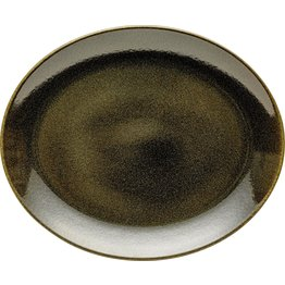 "Porzellanserie ""Shine"" Jungle Platte flach oval, 31x25,5cm - NEU"
