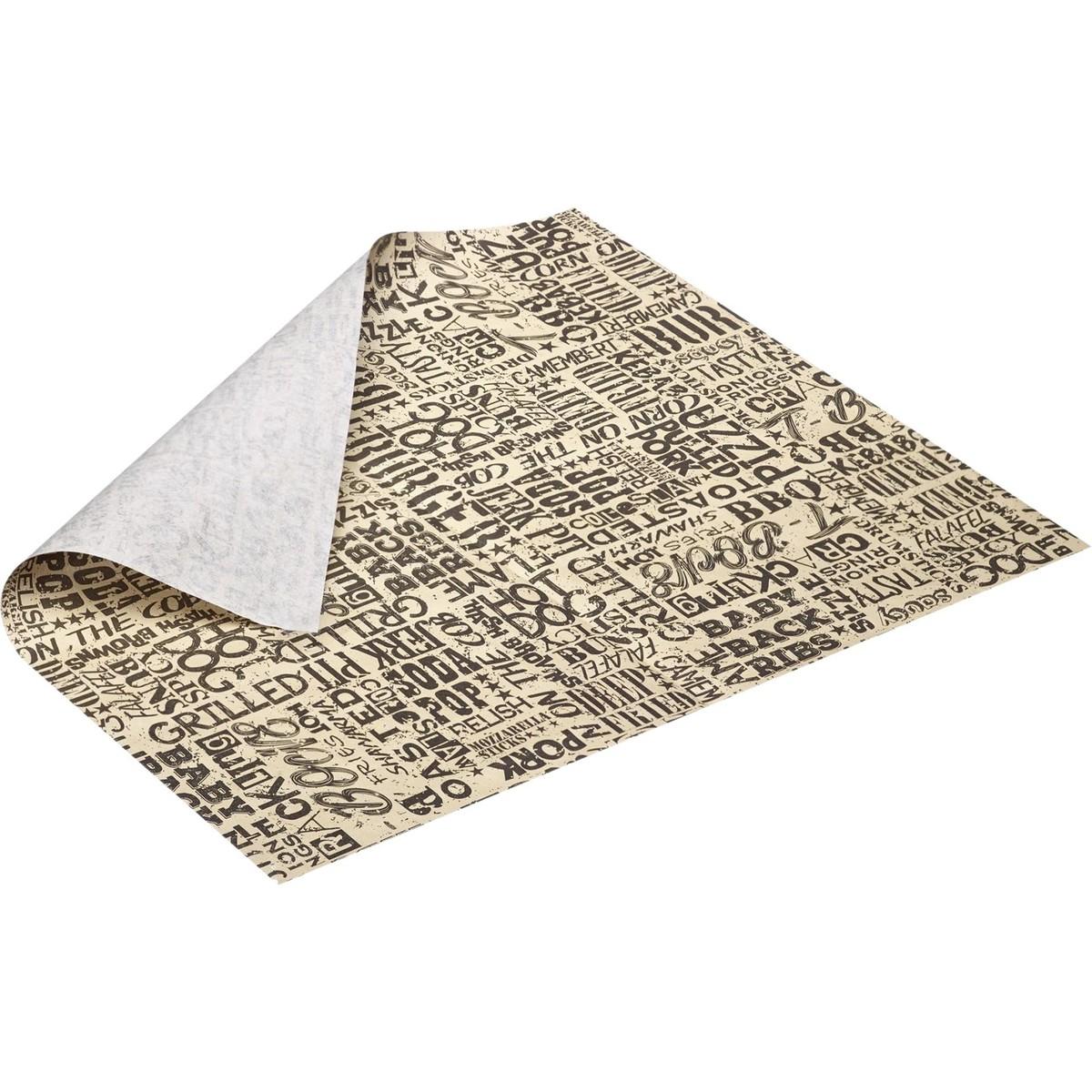"""Einschlagpapier """"Schrift"""", 50 Blatt"""