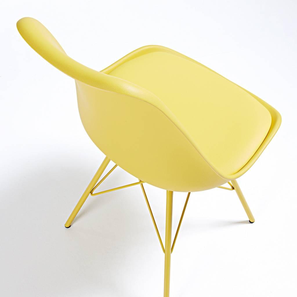 LaForma Stoel Lars metaal geel