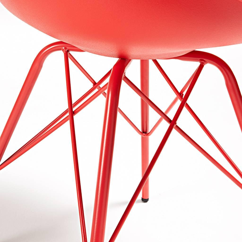 LaForma Stoel Lars metaal rood