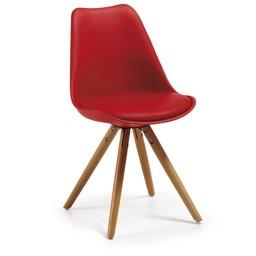LaForma Stoel Lars wood rood