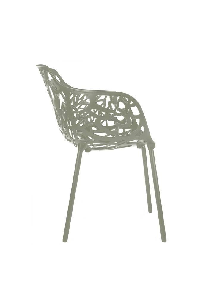 Trendy Designs Armstoel Cast Magnolia Mosgrijs