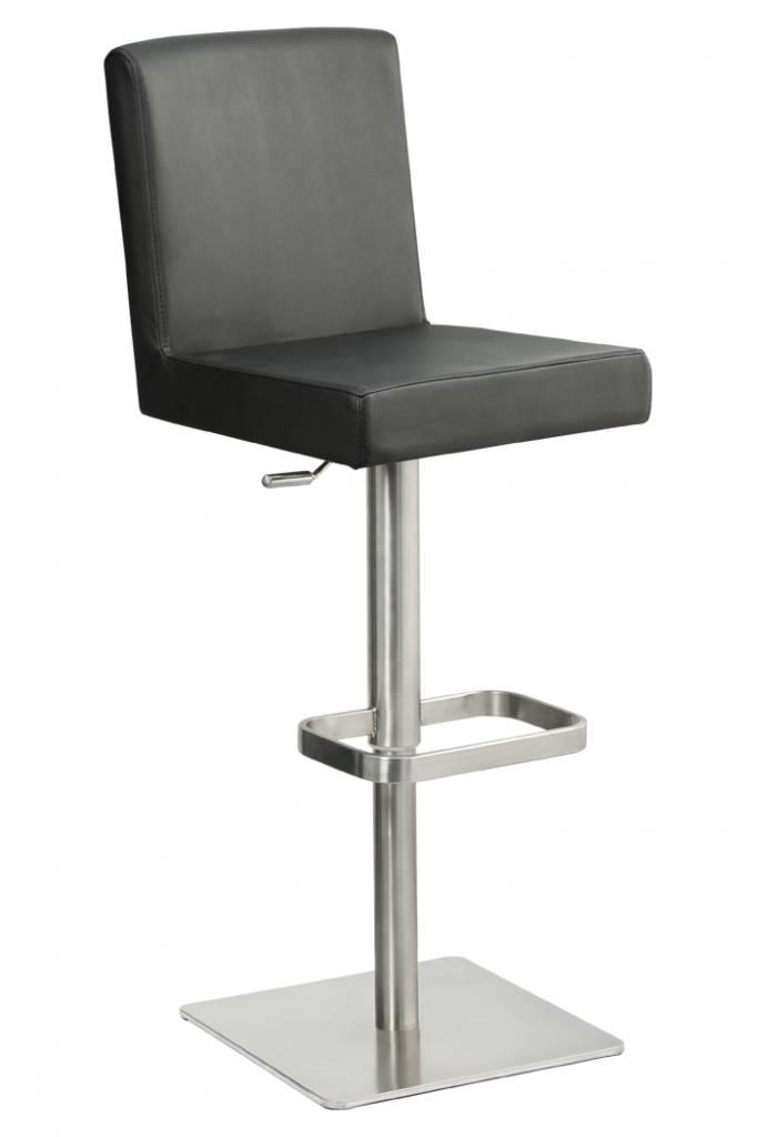 Trendy Designs RVS Barkruk Comfort Zwart kunstleer