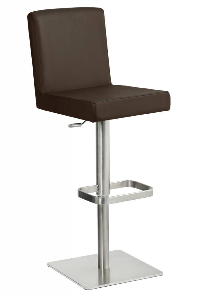 Trendy Designs RVS Barkruk Comfort Bruin Leer