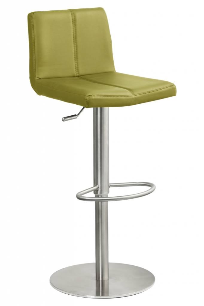 Trendy Designs RVS Barkruk Duncan Lime Leer