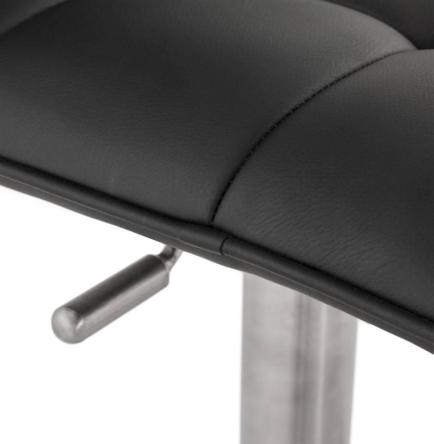 Trendy Designs RVS barkruk Malaga Zwart Leer