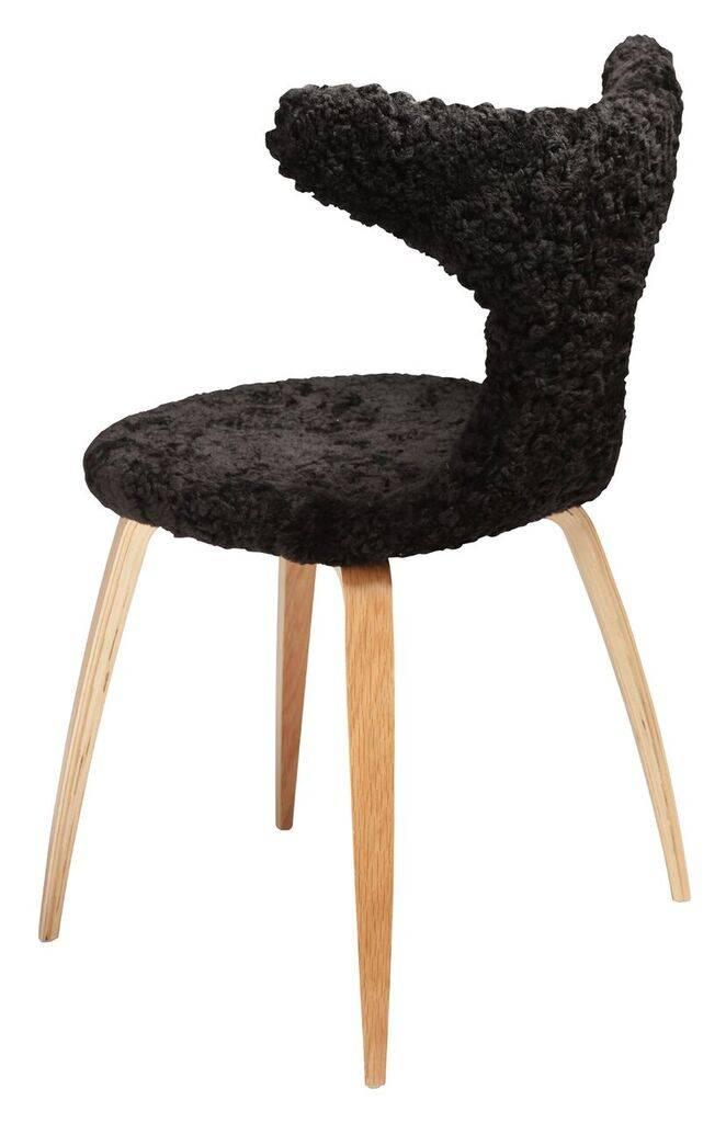 Dan Form Dan-Form stoel Dolphin Zwart Lamb