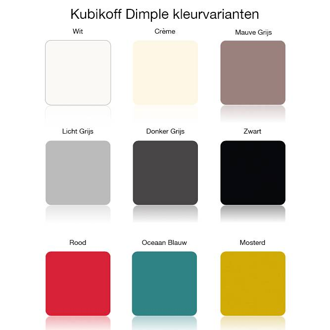 Kubikoff Stoel ZigZag Dimple Closed - Eiken Wit - Rood