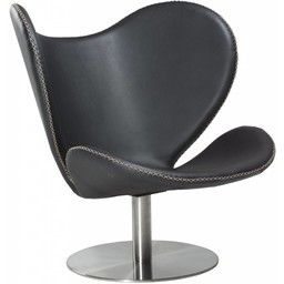 Dan Form Loungestoel butterfly zwart leer