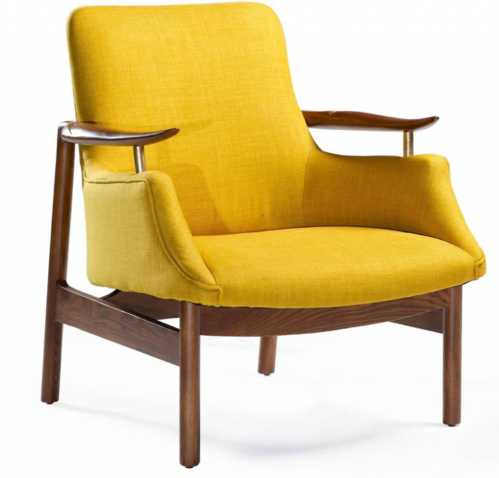 Dan Form Loungestoel Tycho geel