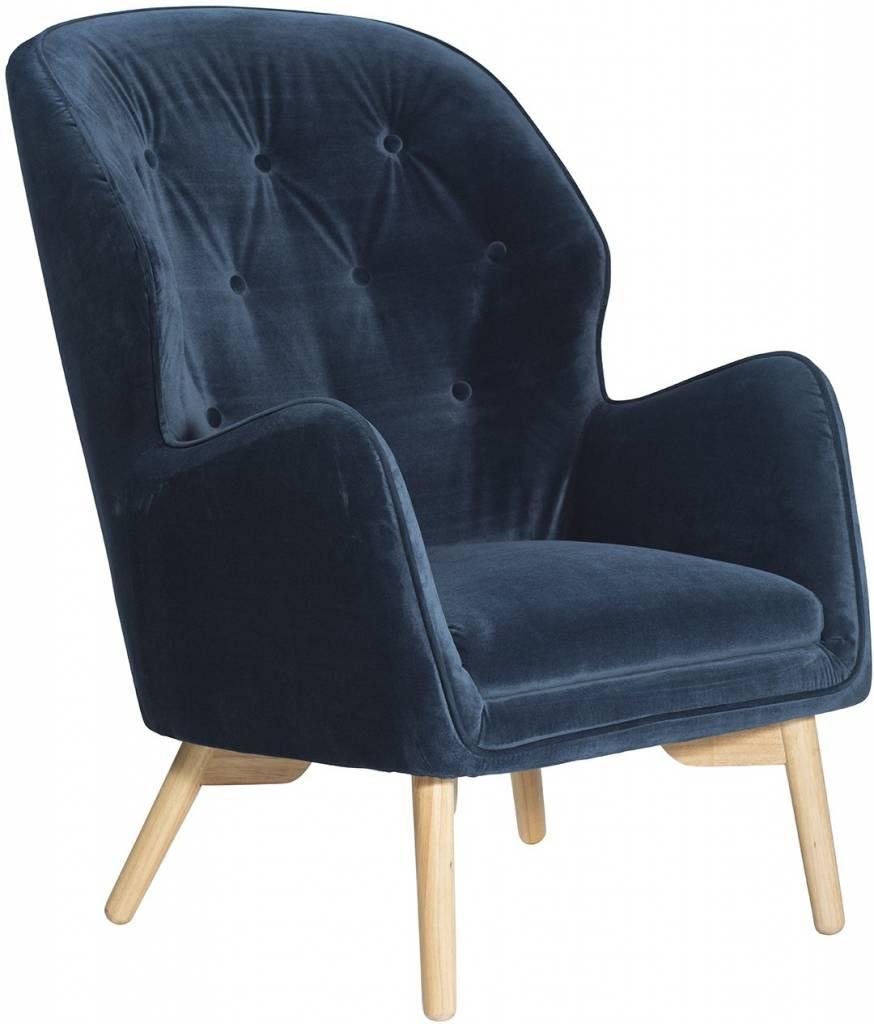 Dan Form Loungestoel Mantle blauw