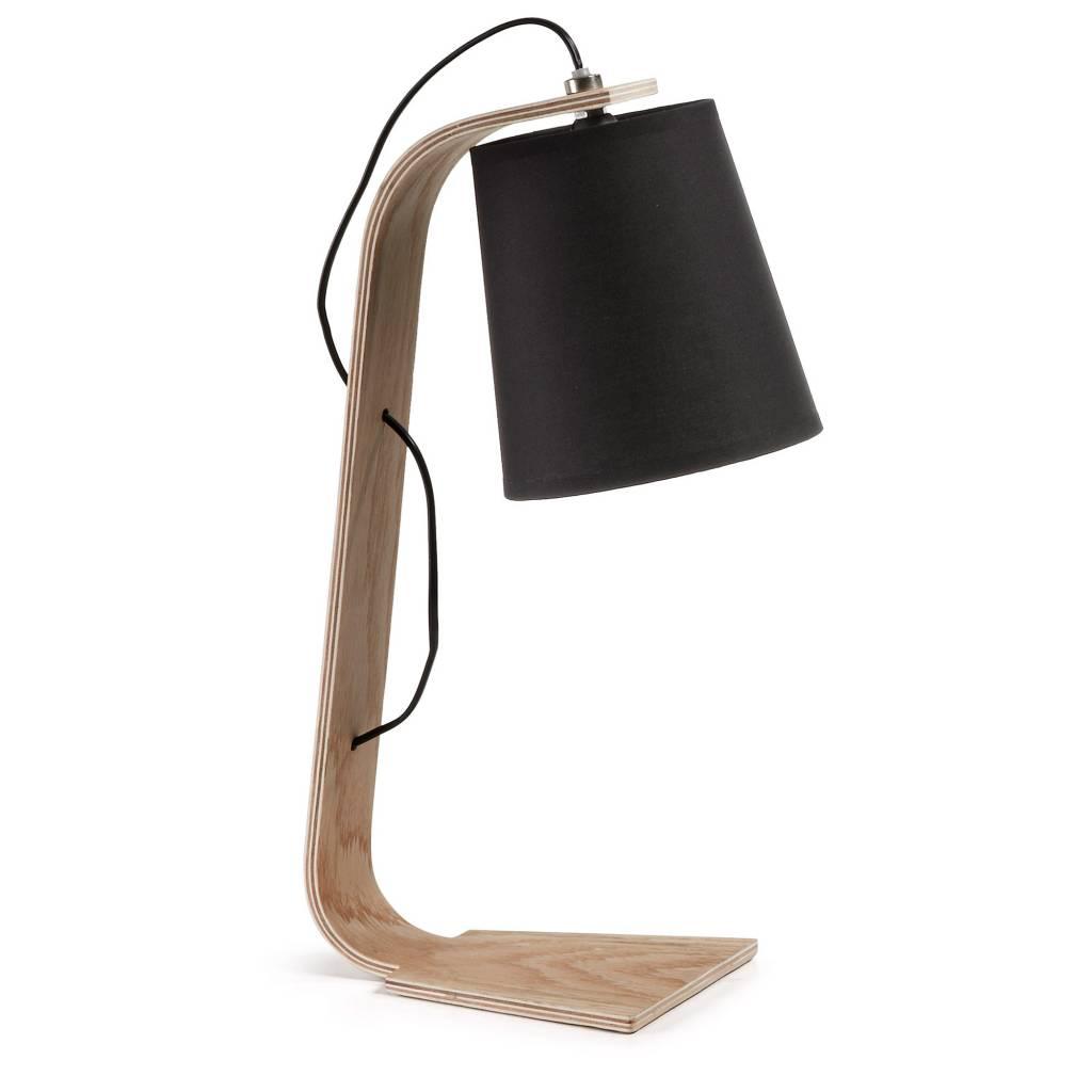 LaForma Tafel- bureaulamp Percy Zwart