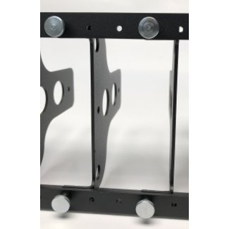 NUC 3U 19inch mounting plate for 1 NUC