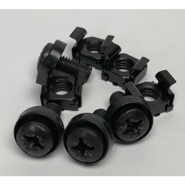 Black RackMount Screw/Cage Nut kit