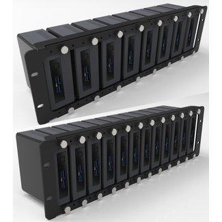 NUC MiniPC 19inch 3U RackMount kit for 1-12 NUC