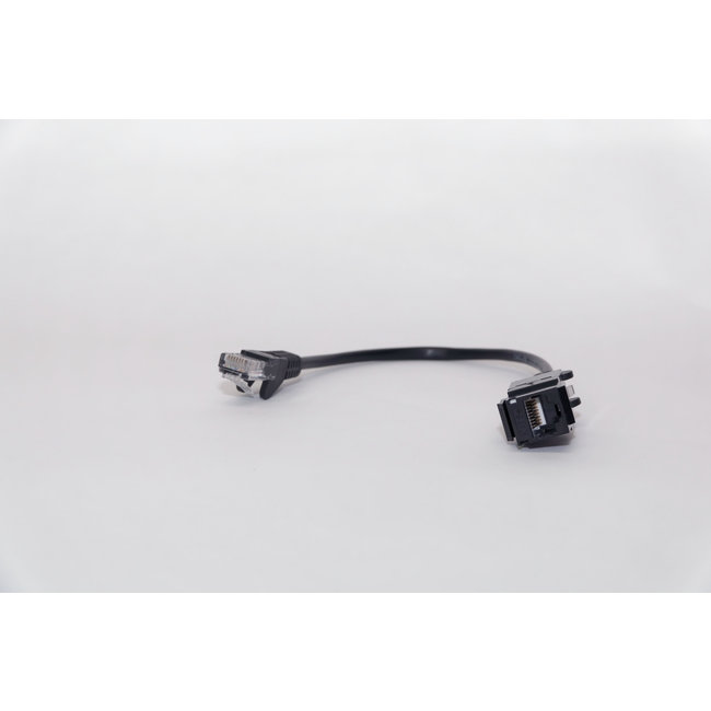 LAN Cat.5e connector/insert with detachable cable