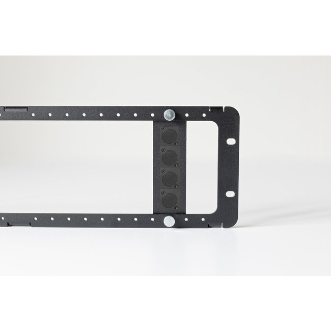 NUC 3U 19inch RackMount mounting plate for 4 connectors