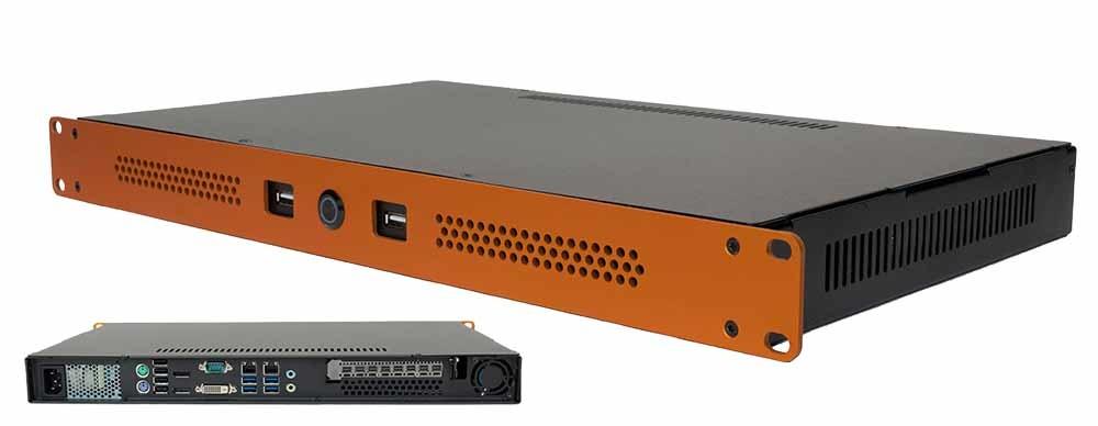 Medium depth server (28cm) with 8x video port 4K!